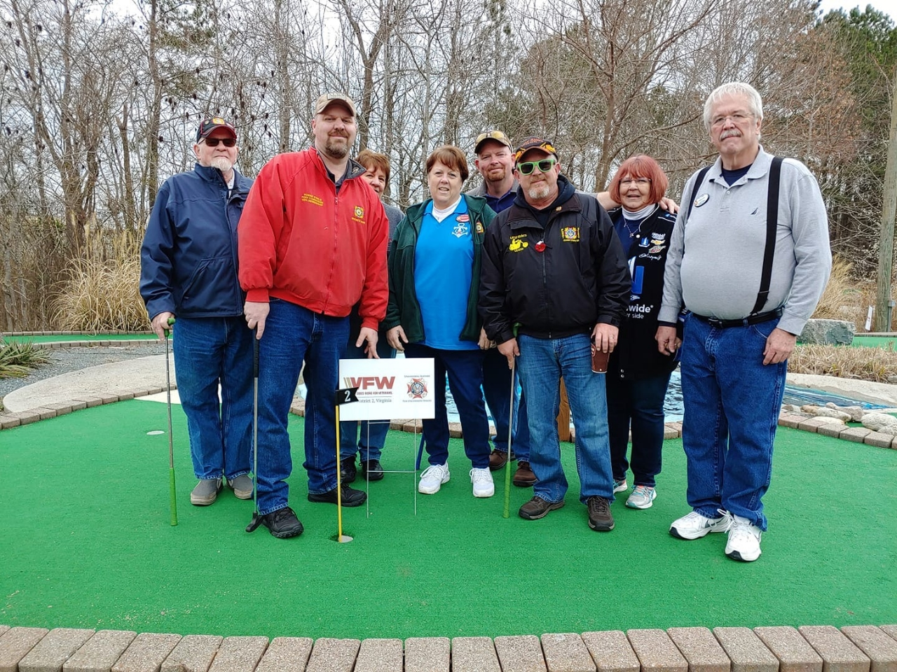 Members of District 2 on Hole 2, sponsored by the District